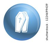 coffin icon. simple... | Shutterstock .eps vector #1224699439