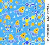 kids seamless pattern | Shutterstock .eps vector #1224699553