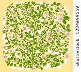 flower tree ornament | Shutterstock .eps vector #1224699559