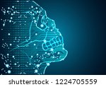 big data and artificial... | Shutterstock .eps vector #1224705559