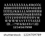 broken sharp verged uppercase... | Shutterstock .eps vector #1224709789