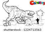 coloring book for children with ... | Shutterstock .eps vector #1224713563