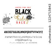 black friday sale. hand drawn... | Shutterstock .eps vector #1224715843