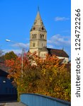 purely romanesque st. gallus... | Shutterstock . vector #1224722266