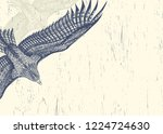 white background with flying... | Shutterstock .eps vector #1224724630