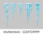 set of realistic borders with... | Shutterstock .eps vector #1224724999