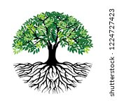 tree and roots vector  tree... | Shutterstock .eps vector #1224727423
