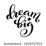 dream big hand written... | Shutterstock .eps vector #1224727513
