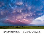 Mammatus Clouds At Sunset