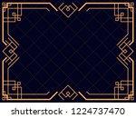 art deco frame. vintage linear...   Shutterstock .eps vector #1224737470