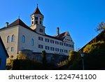 renaissance castle in brenz at... | Shutterstock . vector #1224741100