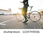 portrait of a male rider with a ... | Shutterstock . vector #1224745036