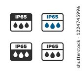 ip65 protection standard icon | Shutterstock .eps vector #1224745996
