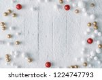 christmas background... | Shutterstock . vector #1224747793