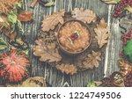 homemade tasty millet porridge. ... | Shutterstock . vector #1224749506