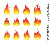 vector graphic flames... | Shutterstock .eps vector #1224752029