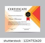 modern certificate vector | Shutterstock .eps vector #1224752620