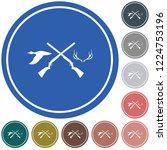 hunting club logo icon. vector... | Shutterstock .eps vector #1224753196