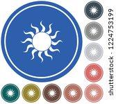 sun stylized image icon. vector ... | Shutterstock .eps vector #1224753199
