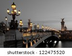 alexander iii bridge  paris ... | Shutterstock . vector #122475520