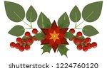 christmas tree branch... | Shutterstock .eps vector #1224760120