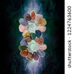infinity crystals and... | Shutterstock . vector #1224763600