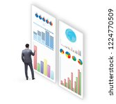 concept of business charts and... | Shutterstock . vector #1224770509