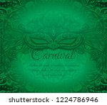 green background with ornament... | Shutterstock .eps vector #1224786946