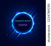 digital  sound equalizer of... | Shutterstock .eps vector #1224789250