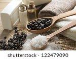 spa coffee set | Shutterstock . vector #122479090