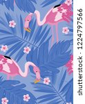 exotic seamless pattern with...   Shutterstock .eps vector #1224797566