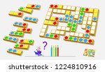 logic puzzle game for children... | Shutterstock .eps vector #1224810916
