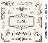calligraphic elements vintage... | Shutterstock .eps vector #122481160