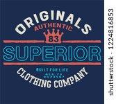 authentic denim  vintage urban... | Shutterstock .eps vector #1224816853