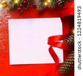 design holidays greeting card... | Shutterstock . vector #1224819493