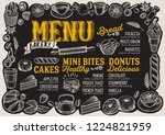 bakery menu template for... | Shutterstock .eps vector #1224821959