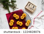 swedish christmas. gluten free... | Shutterstock . vector #1224828076