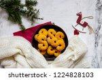 swedish christmas. gluten free...   Shutterstock . vector #1224828103