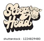 sleepy head. vector handwrittem ... | Shutterstock .eps vector #1224829480