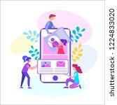 mobile app development  web... | Shutterstock .eps vector #1224833020