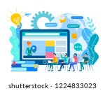 webinar and online education... | Shutterstock .eps vector #1224833023