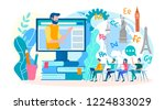training and webinars  foreign... | Shutterstock .eps vector #1224833029