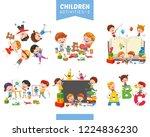 vector illustration of children ... | Shutterstock .eps vector #1224836230