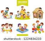 vector illustration of children ... | Shutterstock .eps vector #1224836233