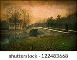 Artistic Vintage Textured Pond...