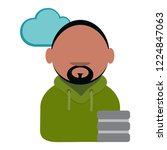 cartoon vector icon of computer ... | Shutterstock .eps vector #1224847063