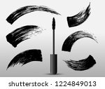 set of make up cosmetic mascara ... | Shutterstock .eps vector #1224849013