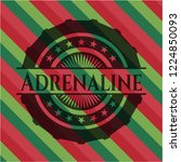 adrenaline christmas badge...   Shutterstock .eps vector #1224850093