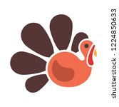 turkey colorful logo  vector... | Shutterstock .eps vector #1224850633