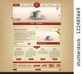 bistro and cafe website design... | Shutterstock .eps vector #122485669